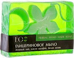 Parfums et Produits cosmétiques Savon glycériné au thé vert et huile de sauge - ECO Laboratorie Herbal Hand Made Soap