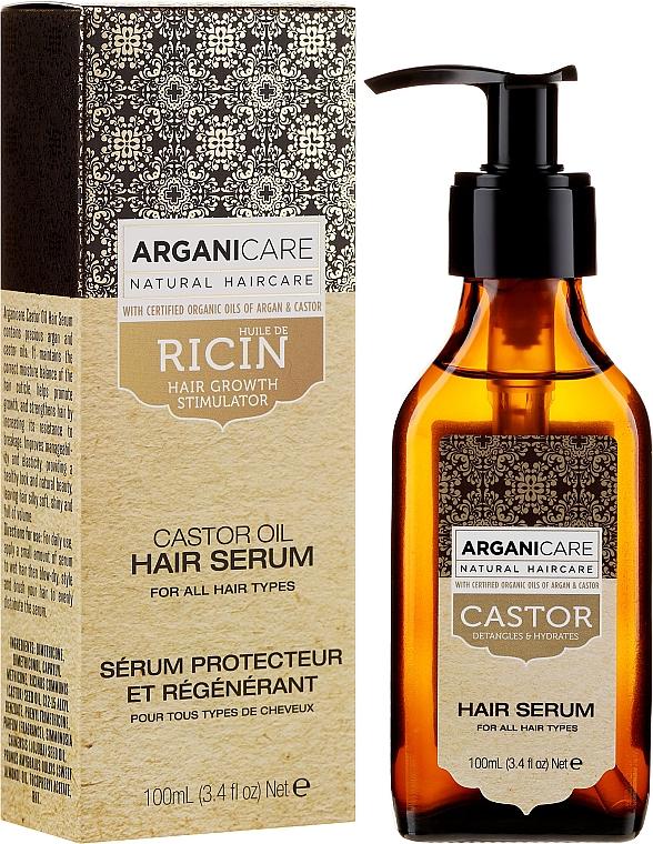 Sérum à l'huile d'argan bio pour cheveux - Arganicare Castor Oil Hair Serum