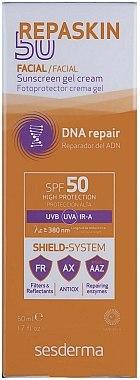 Gel-crème solaire pour visage et corps - SesDerma Laboratories Repaskin Sunscreen Gel-Cream SPF 50+ — Photo N2