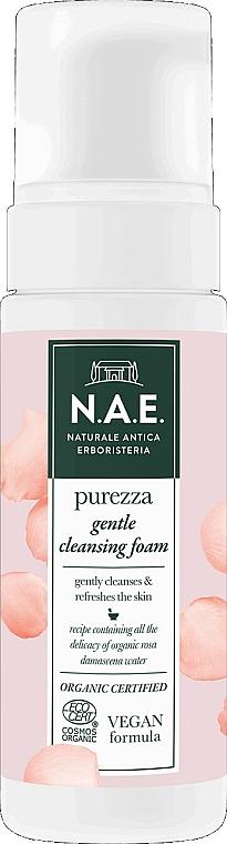 Mousse nettoyante bio à l'eau de rose de Damas pour visage - N.A.E. Purezza Gentle Cleansing Foam