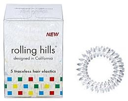 Parfums et Produits cosmétiques Élastiques à cheveux, transparent - Rolling Hills 5 Traceless Hair Rings Transparent