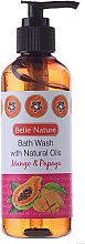 Parfums et Produits cosmétiques Gel douche naturel, Mangue et papaya - Belle Nature Bath Wash Mango&Papaya