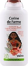 Parfums et Produits cosmétiques Gel douche pour visage, corps et cheveux - Corine de Farme Vaiana Shower Gel 3 in 1