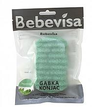 Parfums et Produits cosmétiques Éponge nettoyante pour visage et corps Menthe poivrée - Bebevisa Konjac Sponge