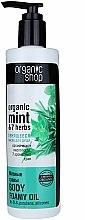 Parfums et Produits cosmétiques Huile de douche moussante à la menthe bio et 7 herbes - Organic shop Body Foam Oil Organic Mint and 7 Herbs