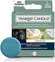 Parfums et Produits cosmétiques Diffuseur électrique de parfum pour voiture, Coton propre - Yankee Candle Clean Cotton Car Powered Fragrance Diffuser Refill (recharge)