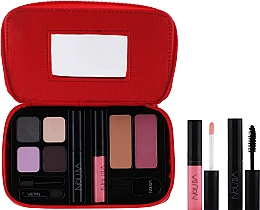 Parfums et Produits cosmétiques Nouba Make Up Travel Kit - Set de voyage (fards à paupières/7,2g + poudre bronzante/3g + mascara/5 ml + gloss/4,5 ml + blush/3g + pinceau/1pc)