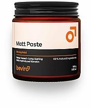 Parfums et Produits cosmétiques Pâte à tenue forte pour cheveux - Beviro Matt Paste Strong Hold