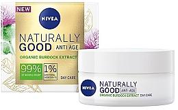 Parfums et Produits cosmétiques Crème à l'extrait de bardane pour visage - Nivea Naturally Good Anti Age Day Cream Organic Burdock Extract
