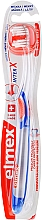 Parfums et Produits cosmétiques Brosse à dents, souple, transaprente avec bleu et orange - Elmex Toothbrush Caries Protection InterX Soft Short Head