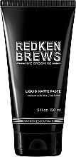Parfums et Produits cosmétiques Pâte modelante à effet mat pour cheveux,fixation moyenne - Redken Brews Liquid Matte Paste