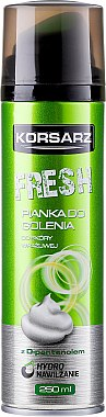 Mousse à raser au D-panthénol - Pharma CF Korsarz Fresh Shaving Foam