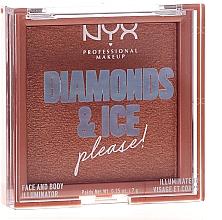 Parfums et Produits cosmétiques Enlumineur pour visage et corps - NYX Professional Makeup Diamonds & Ice Face And Body Illuminator