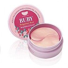 Parfums et Produits cosmétiques Patchs hydrogel aux rubis et rose bulgare contour des yeux - Petitfee & Koelf Ruby & Bulgarian Rose Eye Patch