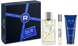 Parfums et Produits cosmétiques Rochas Eau de Rochas Homme - Coffret (eau de toilette/100ml + gel douche/100ml + eau de toilette/20ml)