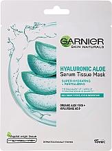 Parfums et Produits cosmétiques Masque tissu à l'extrait d'aloe vera et acide hyaluronique pour visage - Garnier Skin Naturals Hyaluronic Aloe Tissue Mask