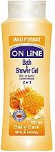 Parfums et Produits cosmétiques Gel douche et bain au lait et miel - On Line Daily Care Bath & Shower Gel