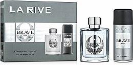 Parfums et Produits cosmétiques La Rive Brave Man - Set (eau de toilette/100ml + déodorant spray/150ml)
