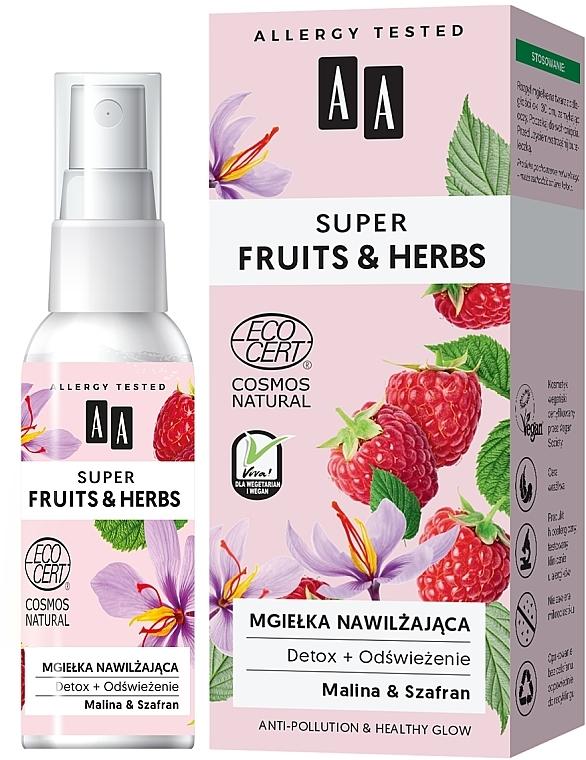 Brume hydratante pour visage - AA Super Fruits & Herbs
