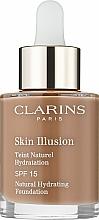 Parfums et Produits cosmétiques Fond de teint hydratant éclat, naturel, SPF 15 - Clarins Skin Illusion Foundation SPF 15