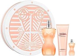 Parfums et Produits cosmétiques Jean Paul Gaultier Classique - Coffret (eau de toilette/100ml + lotion corporelle/75ml + eau de toilette/5ml)