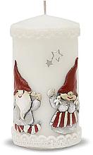 Parfums et Produits cosmétiques Bougie décorative, blanc, 7x14cm - Artman Dwarves