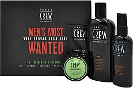 Parfums et Produits cosmétiques Coffret cadeau - American Crew Men's Most Wanted (shm/250ml + cr/50g + spray/100ml + balm/7.4ml)