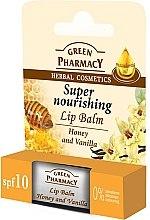 Parfums et Produits cosmétiques Baume à lèvres au miel et vanille SPF 10 - Green Pharmacy Lip Balm With Honey And Vanilla