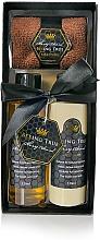 Parfums et Produits cosmétiques Beeing True Miel d'amande - Set (gel douche/125ml + baume corporel/125ml + serviette de visage)