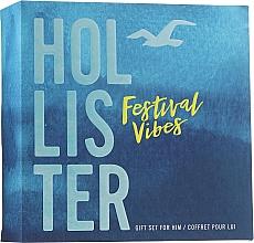 Parfums et Produits cosmétiques Hollister Festival Vibes For Him - Coffret Homme (eau de toilette/50ml + gel douche/100ml)