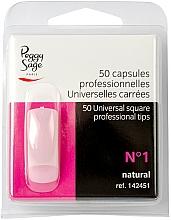 Parfums et Produits cosmétiques Capsules carrées pour ongles, №1, 50 pcs - Peggy Sage Tips
