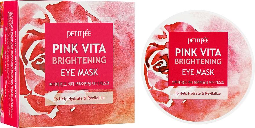 Masque à l'extrait de rose pour contour des yeux - Petitfee&Koelf Pink Vita Brightening Eye Mask