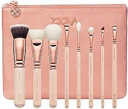 Parfums et Produits cosmétiques Zoeva Rose Golden Luxury Set Vol. 2 - Kit (8 pinceaux de maquillage + trousse)