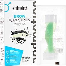 Parfums et Produits cosmétiques Bandes de cire pour sourcils, pour hommes - Andmetics Brow Wax Strips Men (bandes de cire/4x2pc + bandes de cire/4x2pc + lingettes apaisantes/4pc)