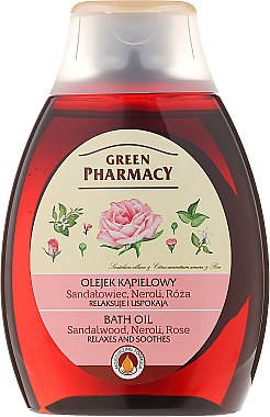Huile de bain et douche au bois de santal, néroli et rose - Green Pharmacy