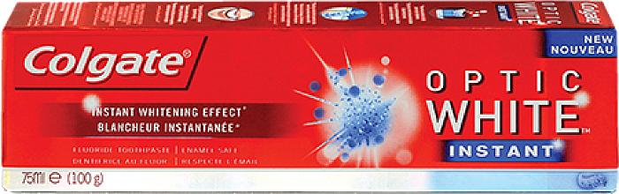Dentifrice blanchissant - Colgate Optic White Instant