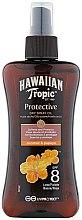 Parfums et Produits cosmétiques Huile sèche solaire en spray, noix de coco et papye SPF 8 - Hawaiian Tropic Protective Dry Oil Spray SPF 8