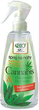 Spray à l'extrait de chanvre pour pieds - Bione Cosmetics Cannabis Foot Spray With Triethyl Citrate And Bromelain