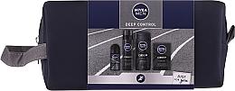 Parfums et Produits cosmétiques Nivea Men Deep Control 2020 - Set(gel douche/250ml + lotion après-rasage/100ml + mousse/200ml + déodorant/50ml + trousse de toilette)