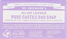 Parfums et Produits cosmétiques Savon à l'huile de lavande - Dr. Bronner's Pure Castile Bar Soap Lavender