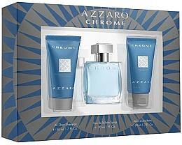 Parfums et Produits cosmétiques Azzaro Chrome - Coffret (eau de toilette/30ml + shampooing/50ml + baume après-rasage/50ml)