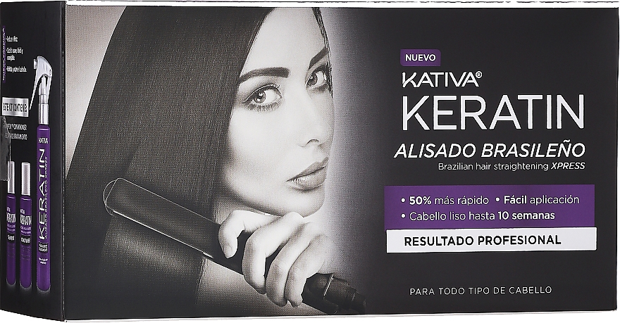 Kativa Keratin - Set (shampooing/35ml + après-shampooing/35ml + mask pour cheveux/100ml)
