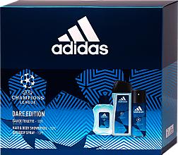Parfums et Produits cosmétiques Adidas UEFA Dare Edition - Set (gel douche/250ml + déodorant spray/150ml + eau de toilette/100ml)
