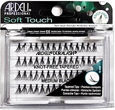 Parfums et Produits cosmétiques Faux-cils individuels, pointes coniques - Ardell Soft Touch Duralash Medium Black Tapered Tips