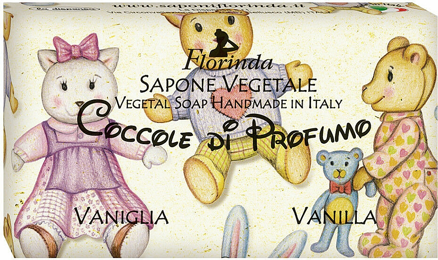 Savon naturel artisanal, Vanille - Florinda Sapone Vegetale Vegetal Soap Vanilla — Photo N1