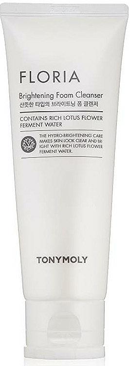 Mousse nettoyante à l'eau de lotus pour visage - Tony Moly Floria Brightening Foam Cleanser — Photo N1