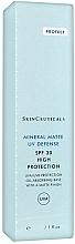 Parfums et Produits cosmétiques Crème solaire pour le visage, effet mat - SkinCeuticals Mineral Matte UV Defense SPF 30