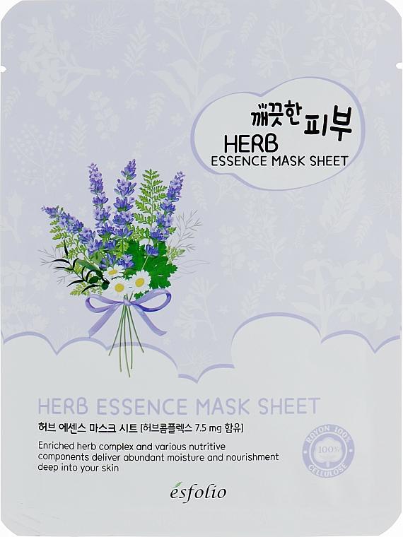 Masque tissu au complexe d'herbes pour visage - Esfolio Pure Skin Essence Herb Mask Sheet