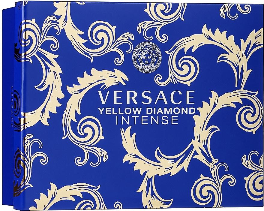 Versace Yellow Diamond Intense - Coffret (eau de parfum/50ml + lotion parfumé pour le corps/50ml + gel douche parfumé/50ml)