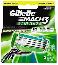 Parfums et Produits cosmétiques Lames de rechange pour rasoir, 2 pcs - Gillette Mach3 Sensitive